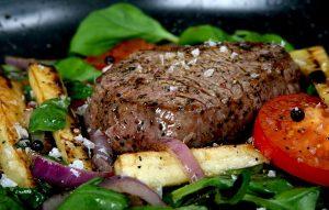 cooked steak tip